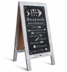 شلكبورب خشبيّ أبيض خمر مغناطيسي ذو إطار A/شلكبورين جانبي شلكبورب متين ساندويتش لوحة عرض رسائل مطعم الإطار لوحة عرض الطباشير