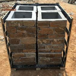 Наружные стены декоративные Slate каменными колоннами