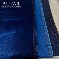 S3533b01 Aufar 100% Katoen Gekamde Stof van de Jeans van het Denim van de Lont van het Garen