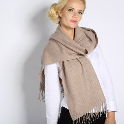 100% Alashan Cashmere Fashion Damen Einfarbig Schal