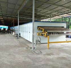 Deux rouleaux de pont de placages sécheur de la capacité de la machine 3CBM/heure continu de placage de la machine du sécheur