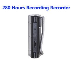 8 GB de 280 horas de grabación de audio Grabadora con reproductor de MP3 Clip poderoso imán