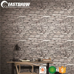 3D de Ladrillo de piedra de vinilo de PVC barato al por mayor fondo de pantalla de inicio