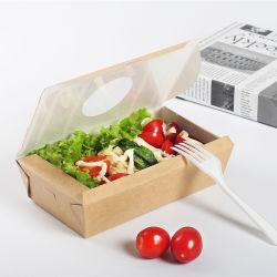 WegwerfPACKPAPIER-Abendessen-Nahrungsmittelkästen Fenster-Öffnen Salat-Filterglocke-Take-out Schnellimbiss-Verpackungs-Hilfsmittel gebratene Nahrungsmittelverpackungs-Hilfsmittel