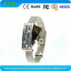 Ювелирные украшения браслет кристально чистый флэш-накопитель USB для продвижения по службе (ES118)