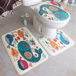 Tapete impresso digital para wc, tapete de banho com impressão colorida