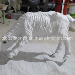 주문 동상 섬유유리 수지 동물성 동상 정원 사슴 조각품 (GSR-111)