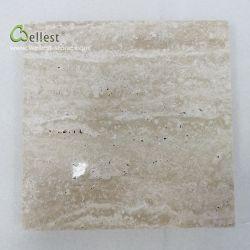 Travertino bianco T105 tagliato per graduare mattonelle secondo la misura lucidate