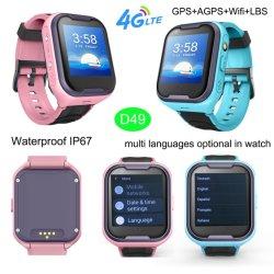 IP67は個々のビデオ呼出しD49を用いる4G子供GPSの追跡者のスマートな腕時計を防水する