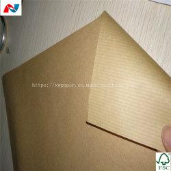 Mg amarelo dourado com nervuras papel kraft para sacos bolsa