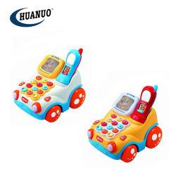 2 en 1 bébé jouets en plastique de l'éducation musicale électrique Ranch Téléphone