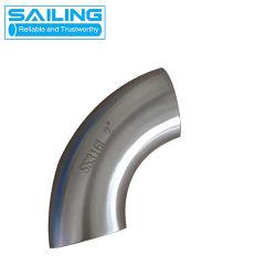 304 ha lucidato l'acciaio inossidabile che salda 90 il gomito sanitario del tubo degli accessori per tubi del commestibile del gomito di grado ss