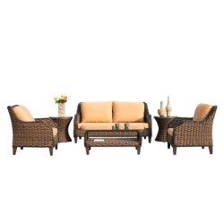 Новая конструкция дешевого отдыха на открытом воздухе плетеной патио один&двойной диван, отель/Home Садовая мебель