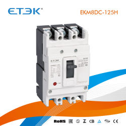 IntertekのCBの承認のEkm8DC 4p 10A 16A 20A 25A 32A 40A 50A 63A 10ka 1000VDCのThermo-MagneticタイプDCのMCCBによって形成されるケースの回路ブレーカ