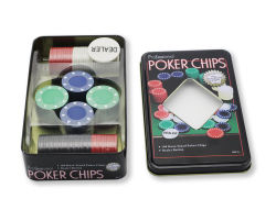 ポーカー用のチップは鉄によって囲まれたチップをセットした