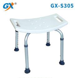 Portátil de blanco y moderno baño con ducha silla/banco
