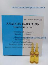 Эбу системы впрыска Analgin 500 мг/5 мл, 2,5 ггц/5 мл GMP сертифицированных западную микстуру Metamizole натрия