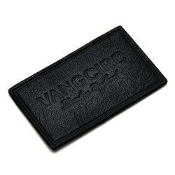 Appuyez sur la touche de chaleur personnalisé Feuille d'or Logo d'estampage Cuir véritable des correctifs des étiquettes pour Denims Vestons Vêtements