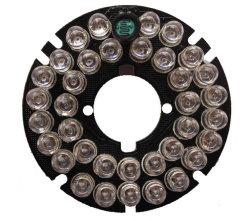 Alimentación de 12V DC cámara CCTV 36 LEDs infrarrojos de visión nocturna de la placa de la junta de anillo