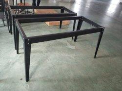 Fluss-Stahl-Esszimmer-Möbel-Metalltisch-Rahmen
