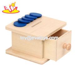 Haute qualité en bois éducatifs Montessori Coin Case pour les enfants W12F089