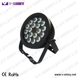 Doppeltes Powercon 18PCS RGBWA 5in1 LED flaches NENNWERT Stadiums-Licht