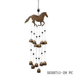 Caballo de metal mayorista la campanilla del viento para el Hogar y Jardín Decoración