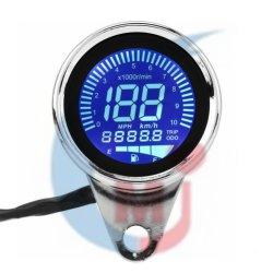 ユニバーサルオートバイのデジタルLEDによってバックライトを当てられるLCD走行距離計の速度計の回転速度計