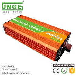1000W 24V гибридный Чистый синус инвертора солнечной энергии с помощью автоматического обхода переменного тока между переменного или постоянного тока приоритетное внимание в первую очередь для выключения системы впускного воздуха