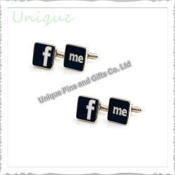 Personnaliser les boutons de manchette bouton Fashion Metal Crafts Gemelos Silver Gold /chemise en acier inoxydable en laiton émail Brassard Link pour les cadeaux de mariage