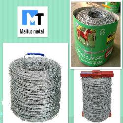 /Galvanizado recubierto de PVC de alambre de púas Bwg 12/14/16