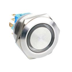 Aan uit Normaal vasthouden 25mm Verlicht licht schakelaar LED In Stand houden