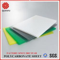 100% policarbonato PC Twin-Wall Material virginal de paneles solares para tejados