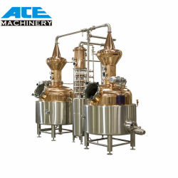 De Distillatie van de Alcohol van de Apparatuur van de Distillatie van de Ethylalcohol van het Roestvrij staal van de Ethylalcohol van het Zetmeel van de Maniok/van de Aardappel/van het Graan/van de Tarwe/van de Suiker van Gho 1000L