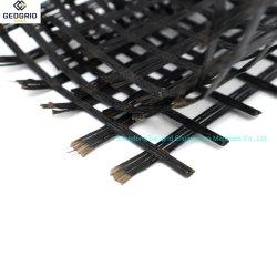 Alta tensão de rotura de filamentos de fibra de vidro feitas Geogrid de fibra de vidro