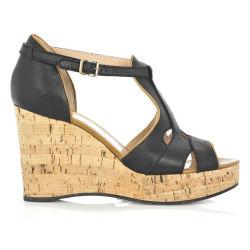 2020 Nuevo de la mujer Zapato Abierto Cork Correa de hebilla zapatos sandalias de tacón de cuña