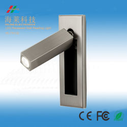 Popular hotel de pared LED de luz de la lectura Cree regulable de 3W