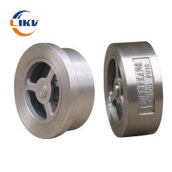 DN80 Pn10/Pn16 API 산업용 스테인리스 스틸 워터 미터 플래퍼 유형 체크 밸브