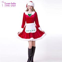 2017 новых прибытия оптовой фантазии Sexy вдохновения Санта Клаус платья
