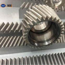 MW de haute qualité en matière plastique de précision le pignon de crémaillère OEM CNC de levage de porte coulissante de porte en acier galvanisé Nylon avec les pignons de gravure Rack ronde en métal