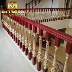 Cor dourada de luxo o corrimão da escada de alumínio para Villas