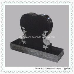 La pierre de granit noir coeur Monument verticale