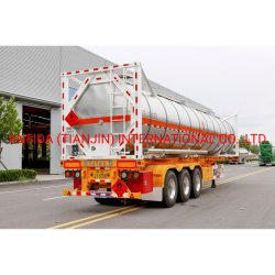 20 フィート 40 フィートの標準 3 アクスル液体コンテナバルクシップトラック トレーラートラクターヘビーデューティドラムユーティリティトレーラーオイル燃料半自動 トレーラータンカー