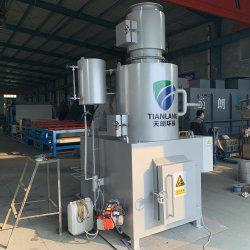 Incinerador de residuos sólidos sin humo, el equipo de la incineración de basura del jardín
