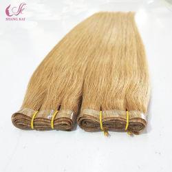 中国の卸し売りプライベートラベル機械PUのインドWeft人間の毛髪の拡張