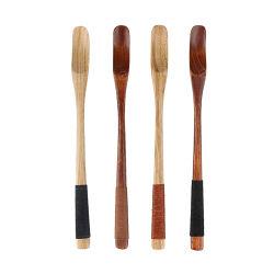 대나무 스쿠프(Bamboo Scoop)를 저어 주는 티 커피, 우수한 품질의 목재 스푼
