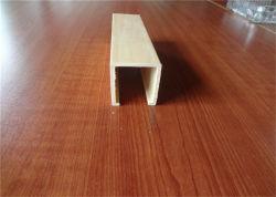 Suspensão do interior do forro de PVC, placa WPC decorativos em madeira composto de plástico do tubo do Teto