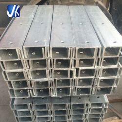 Metal galvanizado de acero de construcción C Canal Haz C Canal perforada.