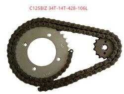 C125biz 34T-14T-428-106L Moto et pignons de chaîne fixe