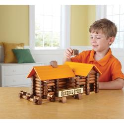 Montessori les enfants de la formation des jouets en bois chambre Log Building Blocs Set